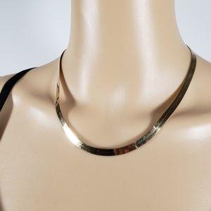 "#620 YELLOW GOLD 14K 18"" flex herringbone necklace"